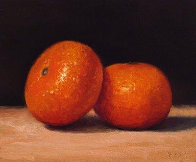 """""""Two Tangerines"""" original fine art by Abbey Ryan"""