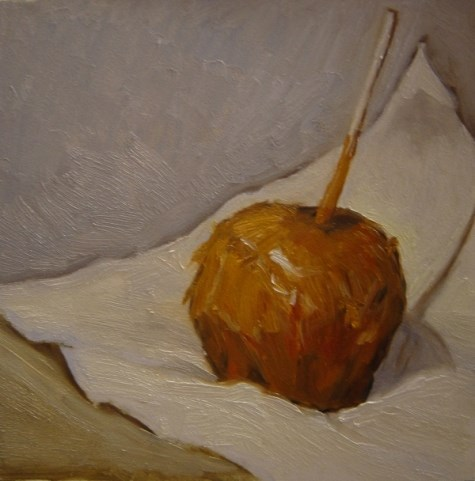 """Caramel Apple"" original fine art by Judith Anderson"