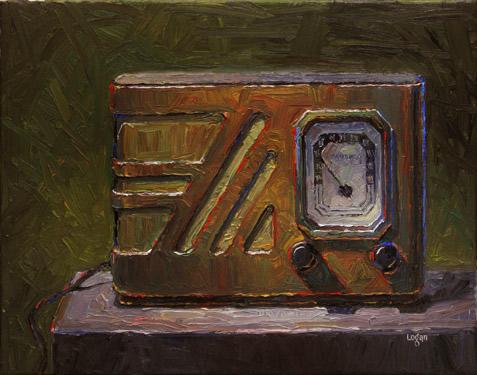"""Old Philco Radio"" original fine art by Raymond Logan"