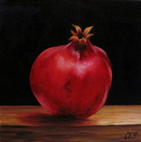 """""""Pomegranate"""" original fine art by ~ces~ Christine E. S. Code"""