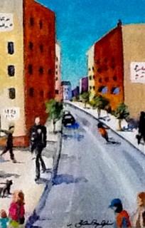 """New Cop on the Beat"" original fine art by JoAnne Perez Robinson"