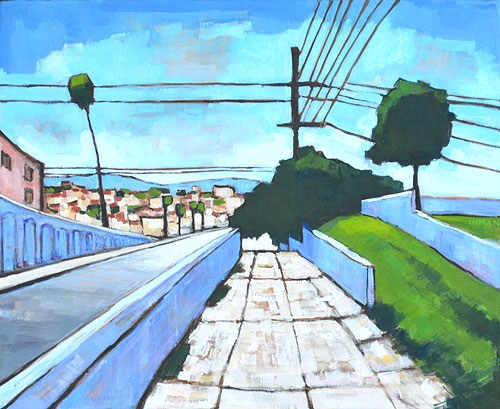 """Georgia Street Bridge, San Diego"" original fine art by Kevin Inman"