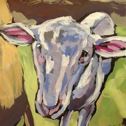 """That Knowing Look"" original fine art by Kat Corrigan"