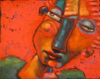 """Red-Hot"" original fine art by Brenda York"