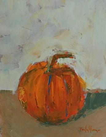 """""""Little Orange Pumpkin"""" original fine art by Pamela Munger"""