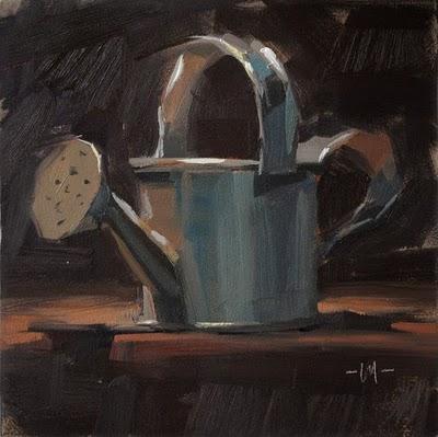 """Watering Can"" original fine art by Carol Marine"