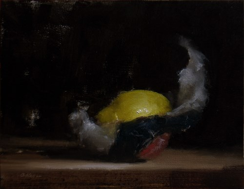 """Wrapped Lemon #2"" original fine art by Neil Carroll"