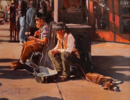 """""""The Trio  Seattle city, urban oil painting by Robin Weiss"""" original fine art by Robin Weiss"""