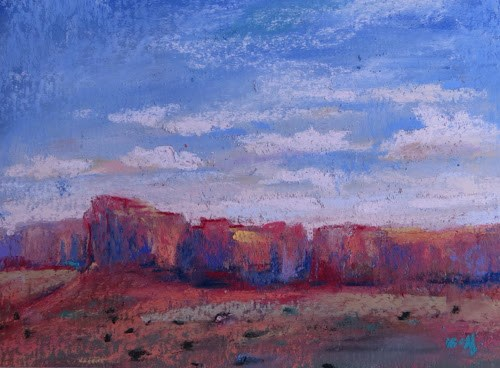 """Chasing the Sun at Monument Valley"" original fine art by Karen Margulis"
