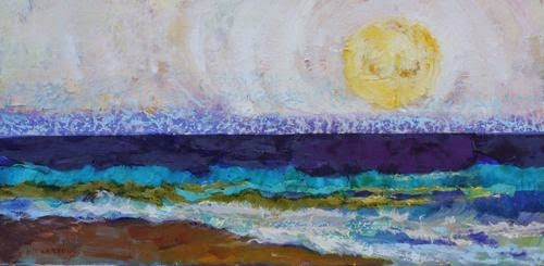 """""""Beach Plans, Contemporary Seascape Paintings by Arizona Artist Amy Whitehouse"""" original fine art by Amy Whitehouse"""
