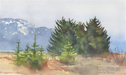 """Between the Rivers"" original fine art by Carole Baker"
