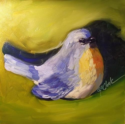 """Little Birdie Told Me, 8 x 8 Oil, Still Life"" original fine art by Donna Pierce-Clark"