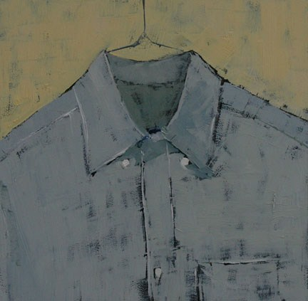 """HIS SHIRT 2"" original fine art by Linda Popple"