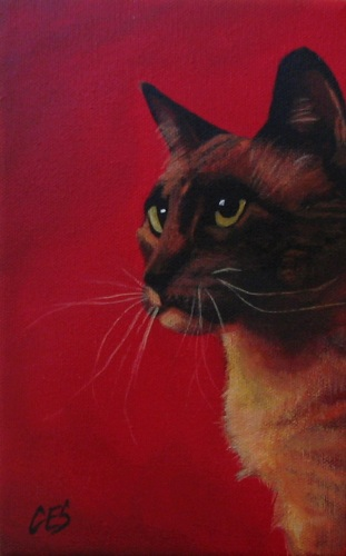 """Cocoa"" original fine art by ~ces~ Christine E. S. Code"