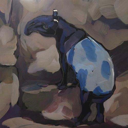 """Another Tapir Butt"" original fine art by Kat Corrigan"