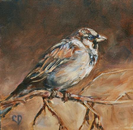 """Camo Bird"" original fine art by Carol DeMumbrum"