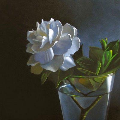 """Gardenia 6x6"" original fine art by M Collier"