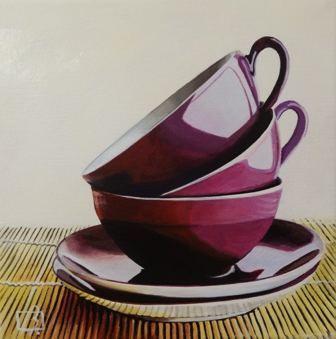 """Purple Cups"" original fine art by Andre Beaulieu"