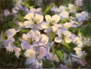 """Fearless Painting- Suncatchers revisited"" original fine art by Pat Fiorello"