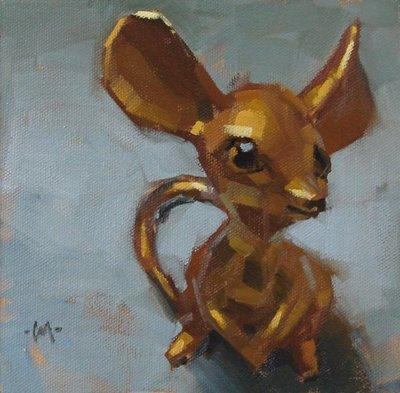 """""""Solid Gold Cute"""" original fine art by Carol Marine"""