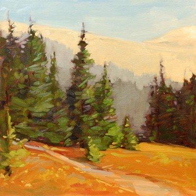 """Mountain Adventure"" original fine art by Laurel Daniel"