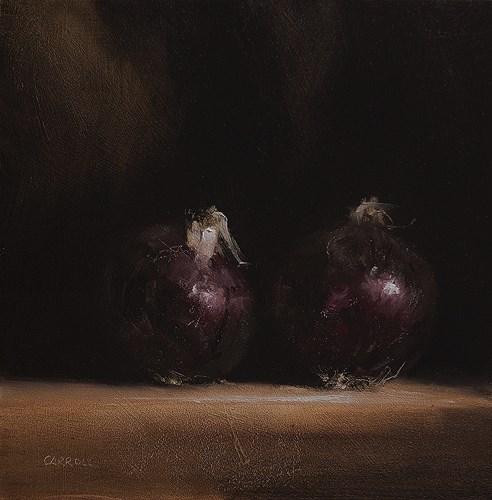 """Red Onions"" original fine art by Neil Carroll"