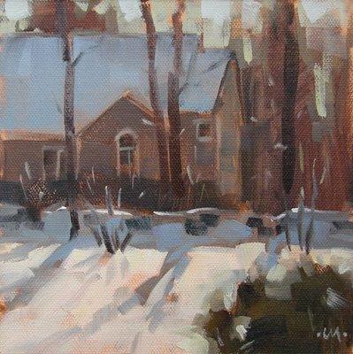 """From the Window & Harde Barn Apt"" original fine art by Carol Marine"