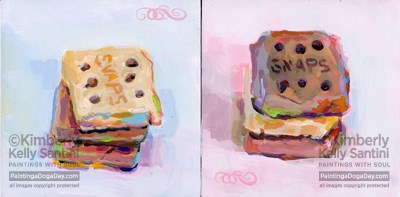 """""""Snaps I and Snaps II, An Online Auction"""" original fine art by Kimberly Santini"""