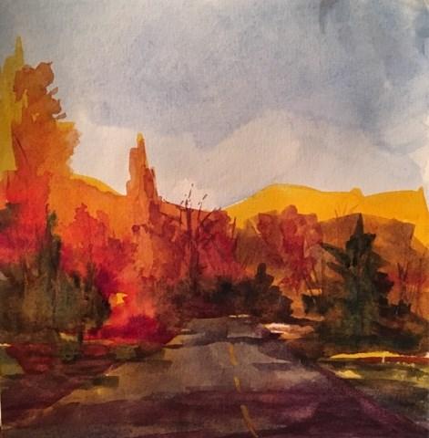 """SoCal Winter Sunset"" original fine art by Katharine Engh"
