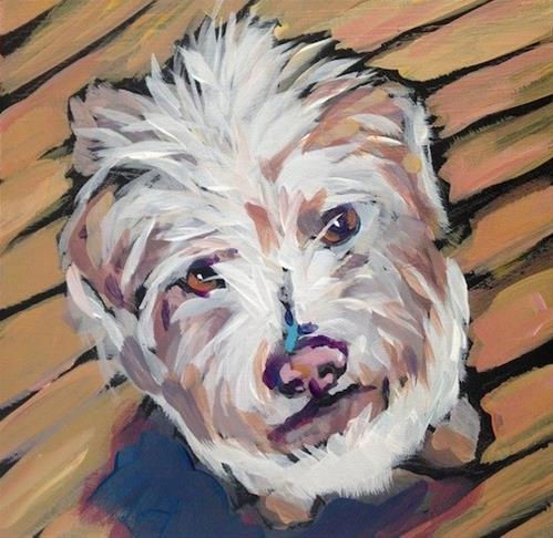 """Fuzzy Face"" original fine art by Kat Corrigan"