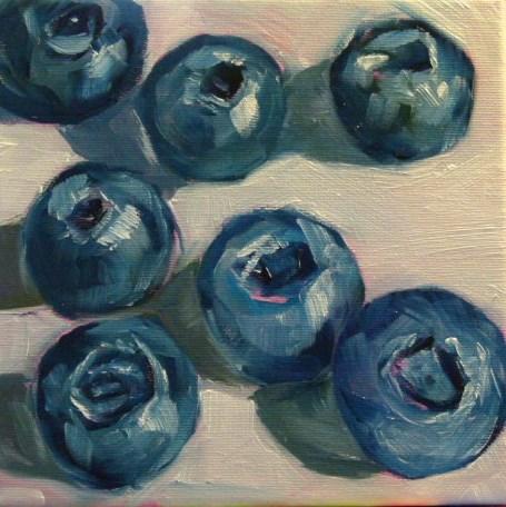 """Blueberry,s 2"" original fine art by Sabine Hüning"