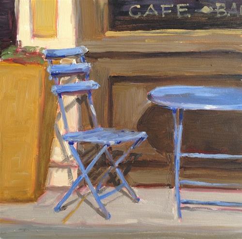 """Cafe Chair"" original fine art by Deborah Newman"