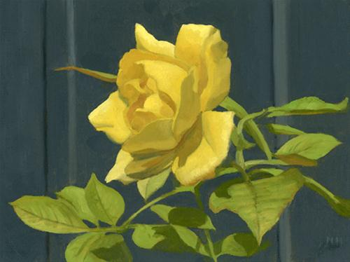 """THE LAST ROSE OF SUMMER"" original fine art by Nancy Herman"