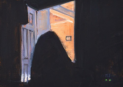 """""""The Ghost in the Bedroom"""" original fine art by Kevin Inman"""