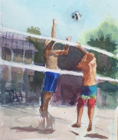 """Indian Summerball"" original fine art by Katharine Engh"