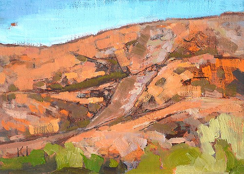"""""""Back to Mission Trails"""" original fine art by Kevin Inman"""
