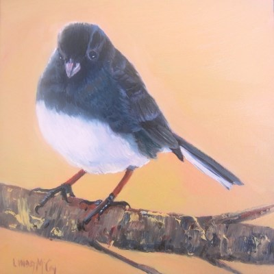 """Junco ll"" original fine art by Linda McCoy"