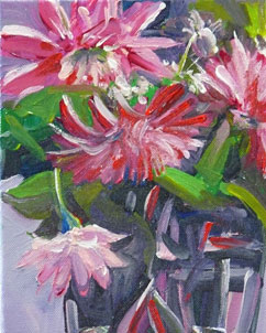 """""""Still Life With Mums"""" original fine art by Darlene Young"""