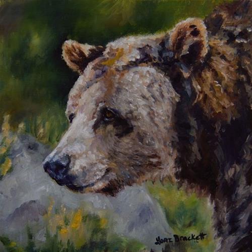 """Silvertip"" original fine art by Lori Brackett"