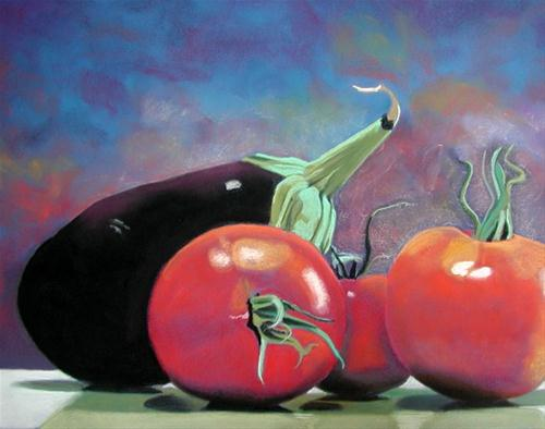 """fruits of the garden"" original fine art by Ria Hills"