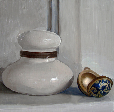 """Inkwell and Cloisonne Egg"" original fine art by Michael William"