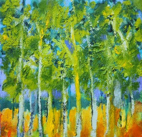 """""""Trees, Contemporary Landscape Paintings by Arizona Artist Amy Whitehouse"""" original fine art by Amy Whitehouse"""