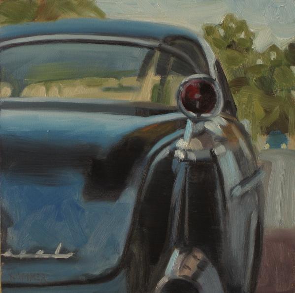 """Red tail light"" original fine art by Claudia Hammer"