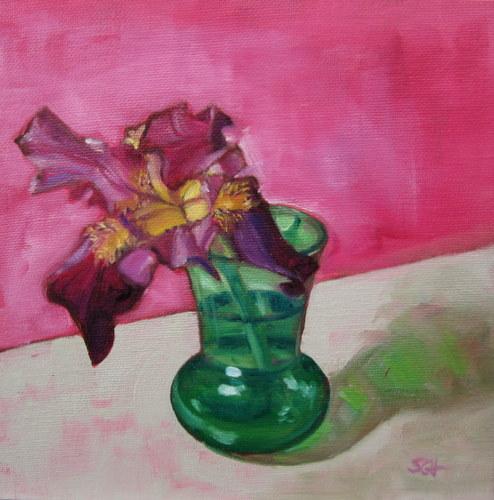 """The Last Iris"" original fine art by Sandy Haynes"