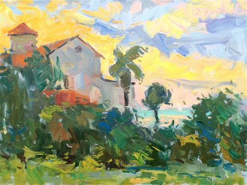 """Evening Light South Padre Island"" original fine art by Michael Clark"