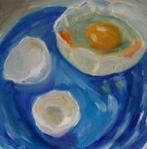 """""""Egg challenge"""" original fine art by Maggie Flatley"""