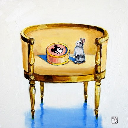 """did I hear CAKE?"" original fine art by Kimberly Applegate"