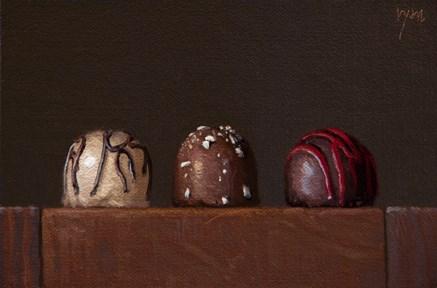 """Still Life with Three Truffles"" original fine art by Abbey Ryan"
