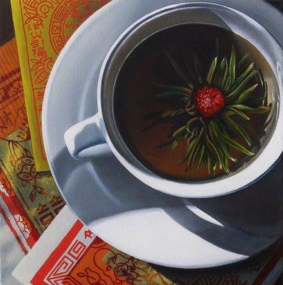 """Amaranth in Jasmine Tea"" original fine art by Jelaine Faunce"