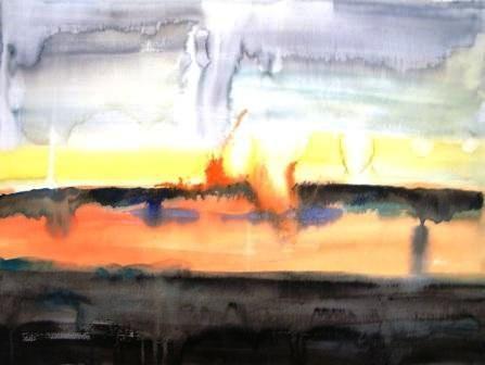 """Brush Fire"" original fine art by Nancy Hall"
